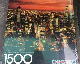 Vintage Springbok Jigsaw Puzzle Chicago 1500 Pieces by Hallmark -Factory Sealed