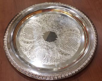 """Leonard Silverplate Ornate Round Plate EP 12"""" made in Italy"""