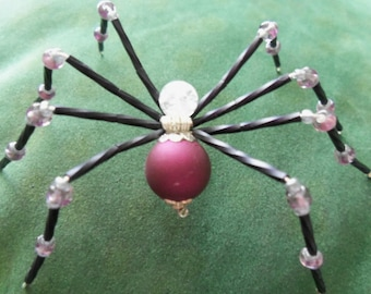 Burgundy & Black Spider