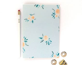 Notebook - Cute Floral Stationery - A5 Dot Grid Journal - Bullet Journal - Gift for Her - School Notebook - Study Journal - Girly Stationery