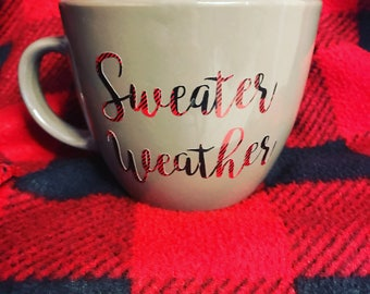 Plaid Sweater Weather Mug