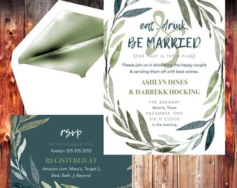 Elope Template Etsy - Party invitation template: elopement party invitation template