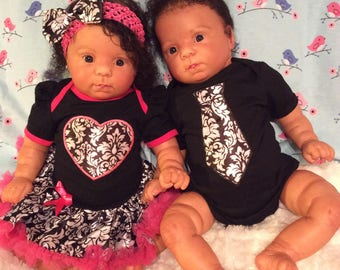 AA Biracial RebornTwins available for sale- Cutie kit
