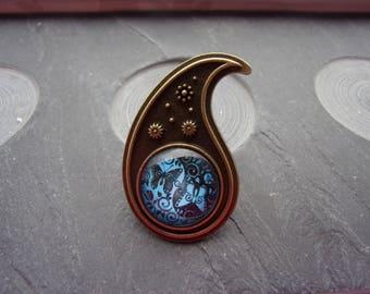 "Ring adjustable ""Zeniale"" blue version"