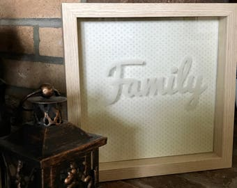 Etched Shadow Box Frame/Customizable/Weddings/Gifts/Picture Frame/Home Decor/Unique