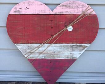 "Reclaimed Pallet Wood Heart ""Sweet"" Sign, Valentine's Day Sign, Pallet Heart, Sweet Heart Sign, Valentine's day decor, Valentine's Day gift"