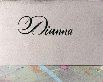 Weddig name cards-pack of 20 cards