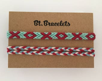 Set of two friendship straps blue/red 2.00