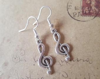 Clef - earrings ~ silver ~
