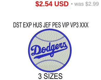 TODAY SALE 15% Los Angeles Dodgers embroidery design logo / embroidery designs / INSTANT download machine embroidery pattern
