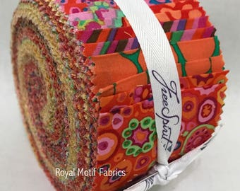 "Free Spirit Kaffe Fassett Classics Citrus Design Roll /Jelly Roll - 40, 2.5"" Precut Fabric Strips"