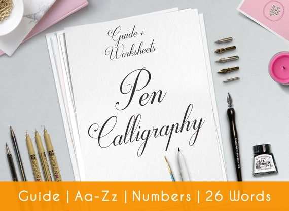Calligraphy Worksheet Practice Sheets Guide Beginner – Calligraphy Worksheet