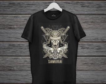 t-shirt samurai, ilustrator, svg, eps, silhouette cameo, cricut edit vector