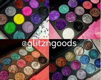 Customize your own 15 pan pressed glitter eye shadow palette