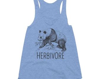 Herbivore, Panda, Friends Not Food, Vegan, Animal Liberation Women Tank *American Apparel*