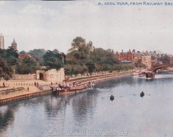 York,  From Railway Bridge ~  Vintage Postcard. ~ Not Posted ~ 1900's.