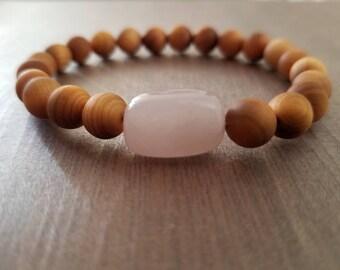 Rose Quartz/Lava Stone