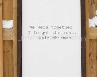 Walt Whitman Quote SVG file