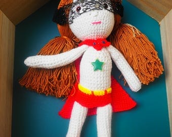 Crochet Super Girl doll