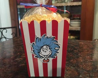 12 Dr Seuss Cat in the Hat Popcorn/Treat Boxes