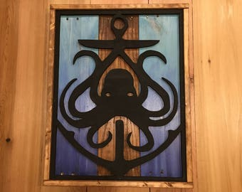 Octopus and Anchor pallet art sign
