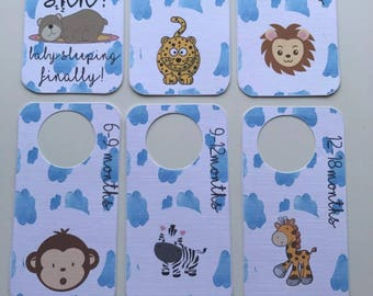 Animals and Clouds Baby Wardrobe Dividers