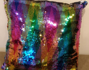 Sequin Pillow Etsy