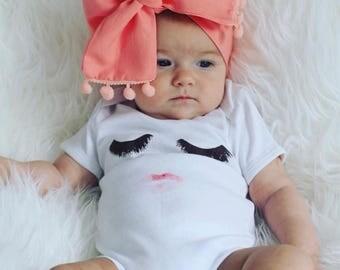 Eyelashes/girls/toddlers/babies/tee/onsies/makeup
