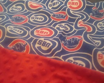 "Chicago Cubbies Baby Car Seat or Stroller Blanket 24"" x 28"""