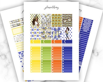 CITRUS Weekly Kit // Printable Planner Stickers / Erin Condren Plum Paper Happy Planner Filofax Inkwell Press Lemonade Spring Floral