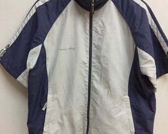 Vintage Marco Polo Authentic Sport Small Embroidery Logo Short Sleeve Jacket