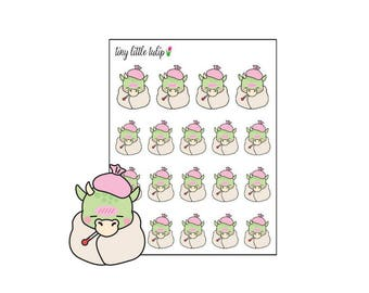 Planner Stickers Dragon Sick Day