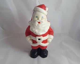 """Vintage 8 1/2"""" Santa Suni Candle"""