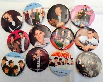 New Kids on the Block Original  Pinback Buttons. Full Set of 12  Butttons