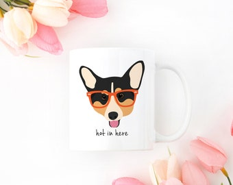 Personalized Corgi Mug, Corgi Coffee Mug, Corgi Mug, Corgi Cup, Corgi Coffee Cup, Dog with Glasses Mug, Corgi Mugs, Corgi Gift, Corgi Cup