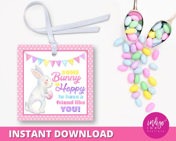 Easter gift tags for kids happy easter tags easter thank you tag il570xn negle Images