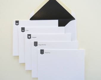 Build Your Set of 6 Letterpress Flat Cards – All Occasion Cards