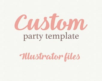 Add On Wedding Template, Illustrator files, Vector File, eps file, ai file, Printable Wedding, Invitation template, Wedding invitation