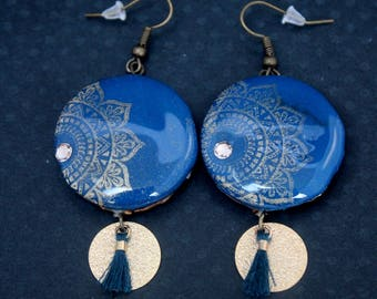 Earrings teal Tajmahal
