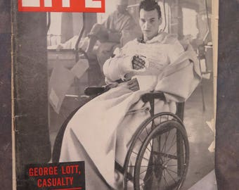 Life Magazine January 29, 1945 George Lott Casualty Odyssey of a Wounded Soldier