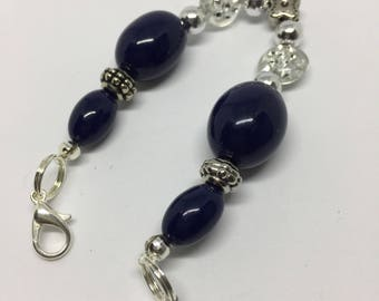 Bandz: Blue and Silver Beaded