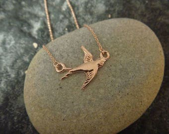 rose gold bird Necklace: spring is here!