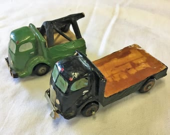AUBURN RUBBER CORP. Vintage Toy Trucks Flat Bed & Tow Truck Rubber Tires