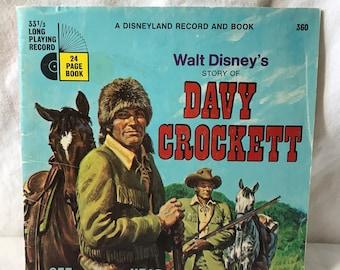 Walt Disney's Story of Davy Crockett. A Disneyland book, without record
