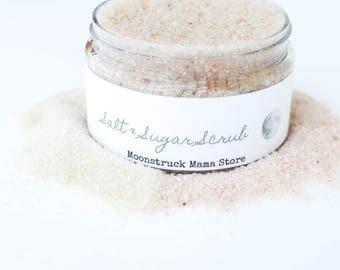 Salt Scrub, Pink Himlayan Salt Scrub, Sugar Scrub, CHOOSE YOUR SCENT, Body Polish, Organic Body Scrub, Exfoliating Scrub