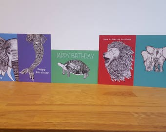 Multipack of cards | Birthday cards | 5 cards for 10 pounds