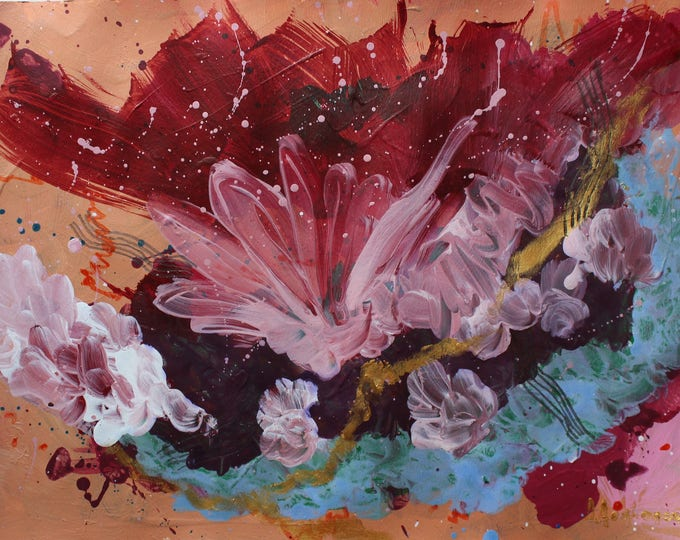 Butterflies in my stomach 42x30cm Original Abstract Painting