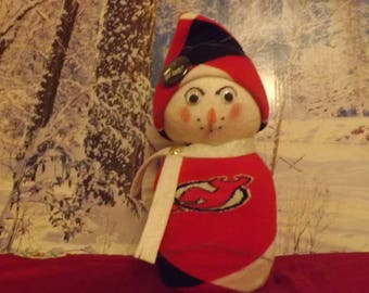 New Jersey Devils Christmas Snowman Single!