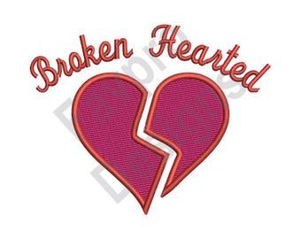 Broken Hearted - Machine Embroidery Design
