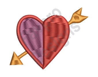Heart And Arrow - Machine Embroidery Design